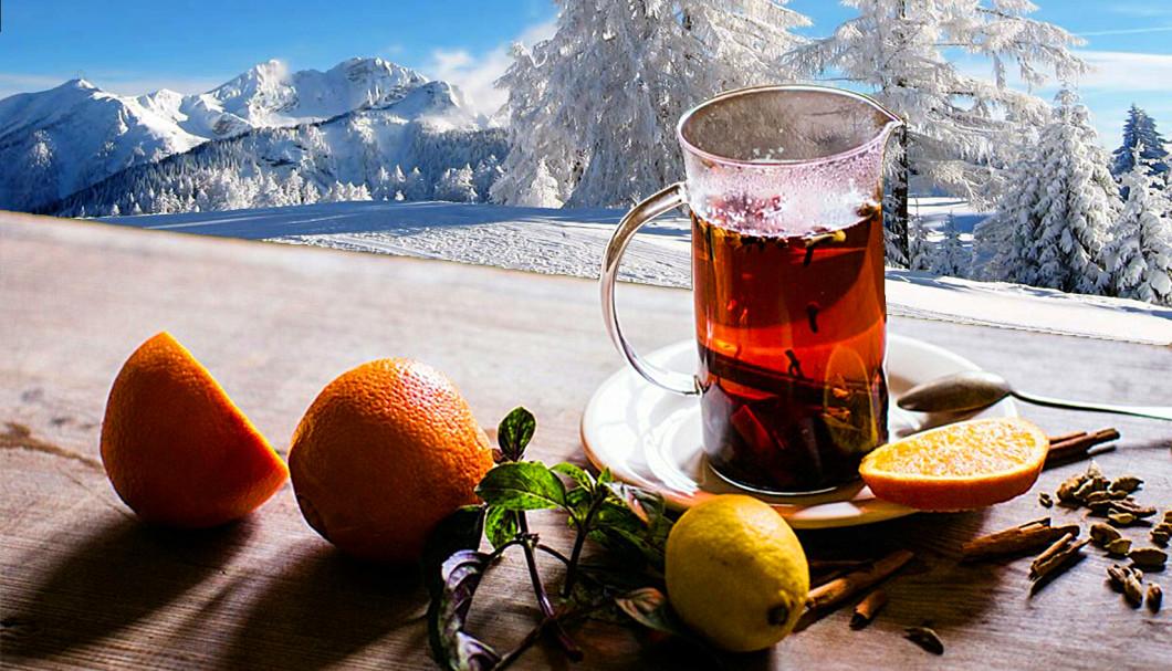 Przepis na: Napar z pomarańczy, imbiru i goździków